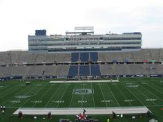 University of Connecticut Huskies football team – inside Rentschler Field.