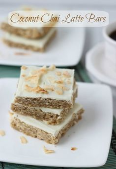 Coconut Chai Latte Bars (Guest Post) - theBitterSideofSweet