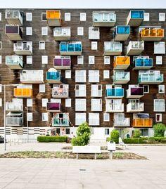 Minha paixão: Wozoco, complexo de apartamentos para idosos, Amsterdã, Holanda_1997_MVRDV