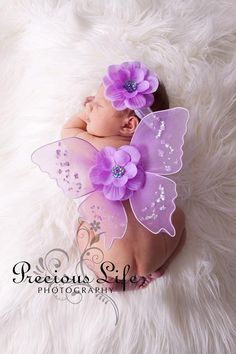 Fae Baby Fairy Newborn to 3 mos photography prop set .. DIY in 15 minutes tutorial and secret supplies links .. Fairy Costume. $4.00, via Etsy.