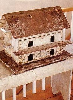 I love old birdhouses