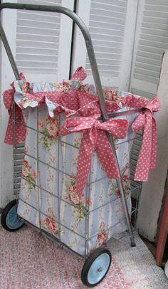 market cart, pdf sew, fabric liner, flea markets, ruffl fabric