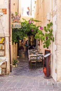 Street Taverna - Rethymno, Crete , Greece
