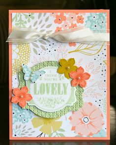 Stampin' Up! SAB by Krystal's Cards and More: I Think You're Lovely