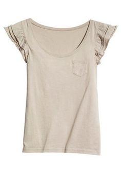 fashion, sleev pocket, cotton blend, lotus sleev, pocket cotton