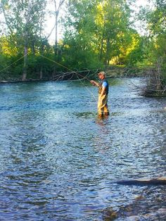 fly fishing on the Boise River