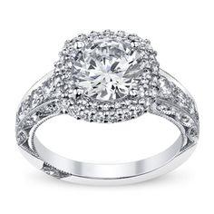 Tacori Ladies Platinum and Diamond Engagement Ring