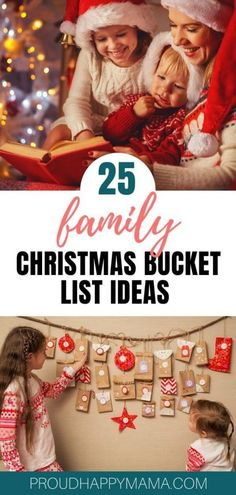 Whether you're looking for fun Christmas ideas, new family Christmas traditions, or just some great activities you can do during the Christmas countdown, then our 25 must do Christmas bucket list ideas below will surely provide you with a bunch of inspiration. #christmas #bucketlist #familyfun