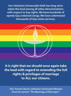 Proud to be a Unitarian Universalist.
