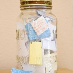 Throughout the year, write down moments that made you really really happy. Then, on New Years, open the jar and read them all.<3