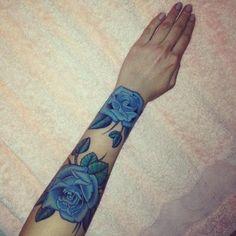 1337 blue rose #tattoos