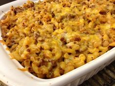 Beefy Macaroni | Creative Kitchen ~ Hearty meal perfect for a crisp fall evening. Easy pasta dish the whole family will love! www.creativekitchenadventures.com #italian #pasta #macaroni #casserole #comfortfood #creativekitchen