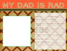 My Dad is Rad - Father's Day Survey