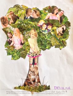 Easy family tree to do with kids.