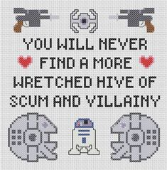 Star Wars Villainy Sampler Pattern