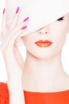 beautiful orange | orange lips | orange blouse | Dior