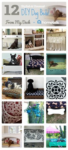 12 Stylish & Unusual DIY Dog Beds | curated by 'From My Deck' blog!
