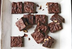 Cocoa Brownies with Walnuts and Brown Butter