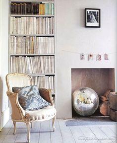 Disco Ball. neutral bookshelf
