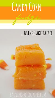 Candy Corn Fudge (Using Cake Batter!)