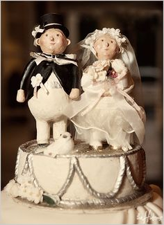 Hand-carved cake topper - Photo by Jason