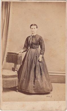 Civil War CDV Lady Day Dress York PA by Evans. $4.00, via Etsy.
