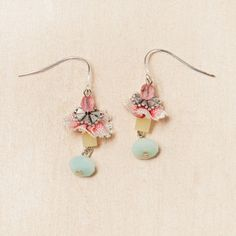 Rose Ruffle Drop Earrings now featured on Fab.