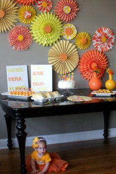 Vintage Orange and Yellow Sunshine party