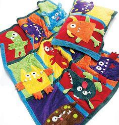 mccall pattern, monster quilt, art crafts, pillow case, quilt patterns, quilts, monsters, pillows, sewing patterns