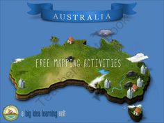 3D mapping activity - Australia from big idea learning on TeachersNotebook.com (6 pages)  - Made by an Aussie teacher.  Used in an Aussie class.  Available for everyone.  I worked hard to find a balance between making mapping as fun as possible and not including just the 'usual' info related to Australia, while still making it as educational as