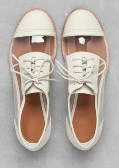 White and clear oxfords
