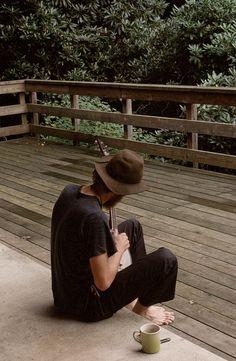 hats, beards, music instruments, men hat style, coffee, banjos, porches, boy, man