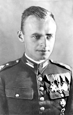 "Witold Pilecki (1901-1948), During World War II he volunteered to be imprisoned at Auschwitz in order to gather intelligence and escape. While in the camp, Pilecki organized a resistance movement and as early as 1941, informed the Western Allies of Nazi Germany's Auschwitz atrocities. He escaped in 1943 and took part in the Warsaw Uprising. He remained loyal to the Polish government-in-exile and was executed in 1948 by the Stalinist secret police on charges of working for ""foreign imperialism""."