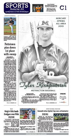 Methacton's Tyler Kirkpatrick, a Marist University recruit, is named All-Area Baseball Player of the Year. http://www.pottsmerc.com/article/20130630/SPORTS01/130639959/all-area-baseball-methacton-s-kirkpatrick-is-player-of-the-year