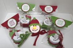 Snowman tealight pins