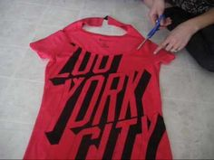 Ways to cut up t-shirts. :-)
