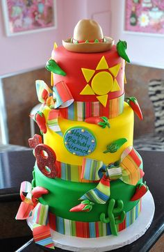 Mexican theme cake- festive and fun