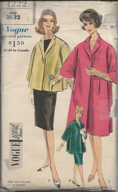 1960s Vogue Special Design Pattern N0 4222 of Flared by cornehl, $22.00 #60s #retro #vintage