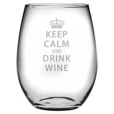 wines, idea, glass set, glasses, wine glass, calm stemless, keep calm, stemless wine, drink wine