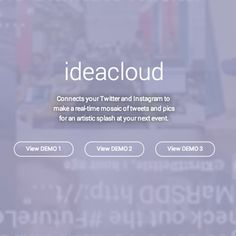 IdeaCloud - Social Media Stream: Animated Twitter Wall meets Vibrant Instagram Wall