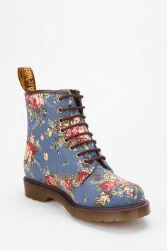 Dr. Martens Denim Floral Boots