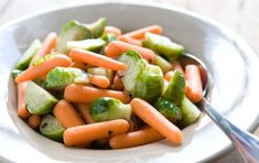 Steamed Carrots and Brussels Sprouts with Tarragon // A wonderfully simple side dish for Thanksgiving!