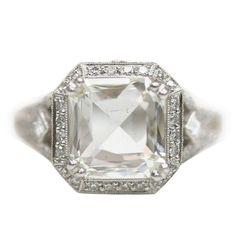 Rose cut Asscher Diamond Ring