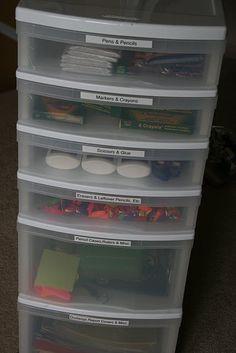 school stuff organizing