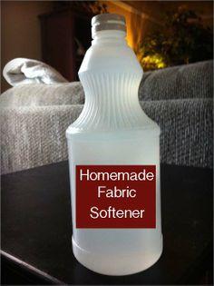 Homemade Fabric Softener & Dryer Sheets