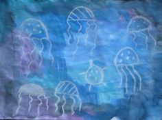 UNDER THE SEA - Watercolor & chalk jellyfish! - Fun Family Crafts