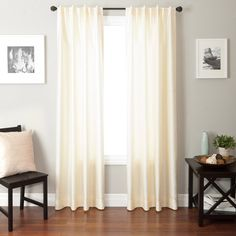 Colchester Ave Bergamo Back Tab and Rod Pocket Curtain Panel -or these for the living room?