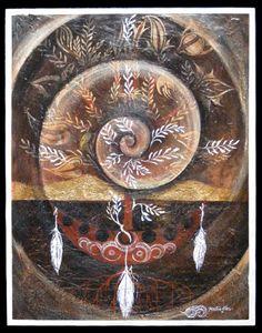 Tihei Mauri Ora series #5 Robin Slow Maori Art painting new zealand kura contemporary art gallery