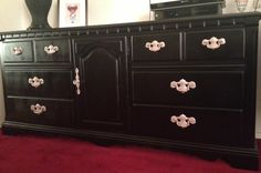 Old Furniture Made New. Transforming and refurbishing an old dresser with Spray Paint. Step by step instructions with supplies needed. DIY