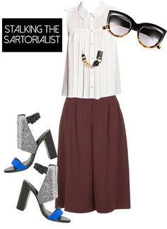 1 Pair Of Culottes, 3 Ways: Stalking The Sartorialist